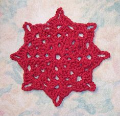 Free SmoothFox's Holiday Star by Donna Mason-Svara #crochet coaster