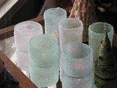 Epsom Salt Luminaries: Some Winter Beauty salt luminari, craft, candle holders, saltluminari, epsom salt