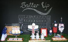 Baseball party score board. Fun!