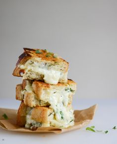 White Pizza Grilled Cheese | How Sweet Eats