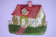 Cast Iron National Foundry Cape Cod Cottage with Picket Fence Doorstop