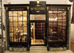 Dollhouse antiquarian bookstore