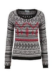 Patterned sweater wi