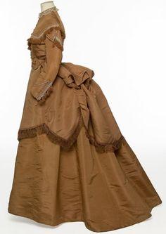 Robe d'après-midi en trois parties, France, vers 1870