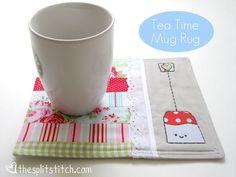 tea time, rug patterns, stitch, mats, mug rugs, craft ideas, rug tutori, crafts, christmas gifts