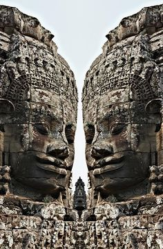Angkor Wat, Giant Faces At Bayon Temple - Cambodia