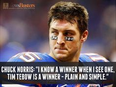 Do you agree with Church Norris about Tim Tebow?