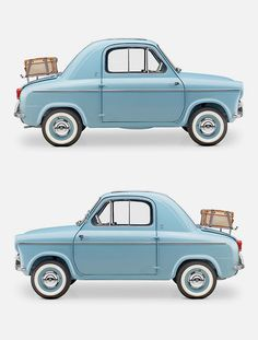"The Vespa 400 was a rear-engined micro car, produced by ACMA in Fourchambault, France, from 1957 to 1961 to the designs of the Italian Piaggio company. Two different versions were sold, ""Lusso"" and ""Turismo"". The car is basically a two seater with room behind the seats to accommodate two small children on an optional cushion or luggage. The front seats are simple tubular metal frames with cloth upholstery on elastic ""springs"" and between the seats is the handbrake, starter and choke. The gear ch"