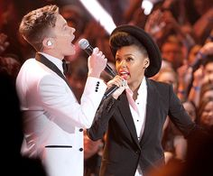 Janelle Monáe and Nate Ruess of fun. 2012 MTV Movie Awards