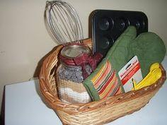 Brownies in a jar gift basket