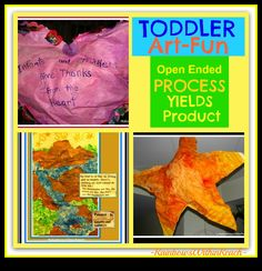 """Toddler """"Process"""" Open-Ended Art: Transformed into """"Product"""""""