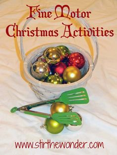 Fine Motor Christmas Activitites | Stir the Wonder #kbn #finemotor #finemotorfridays #christmas christma activitit, christmas theme preschool