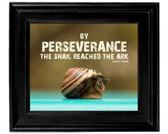 8x10 Inspirational Perseverance Quote Print