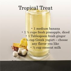 100 Days of Smoothies Tropical Treat! #smoothie #eatclean