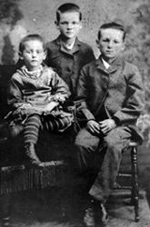 Young Herbert Hoover (center) with his siblings in West Branch, Iowa.