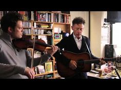 "Lyle Lovett: NPR Music Tiny Desk Concert - w/ Luke Bulla on Fiddle and backup vocals - Set List: ""Cowboy Man"", ""If You Were To Wake Up"", ""Good Intentions"" - So easy and calm and wonderful."