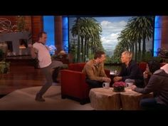 Dance Dares ~ Ellen has had her staff dance dare some of her celebrity guests while they were on stage -- without them knowing and it's hilarious.