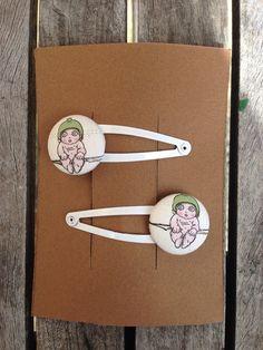 gum nut baby hair clips