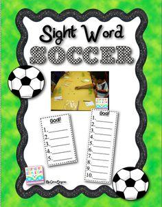 Sight Word Soccer Freebie - Super Fun Sight word game!