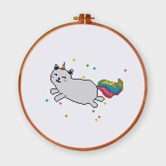 Cat Unicorn cross st