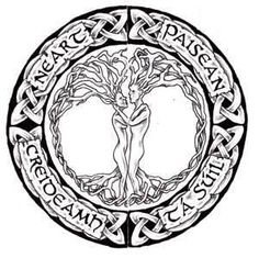 Custom Celtic Tree Of Life Tattoo Design- i like this one as a couple tattoo with different words