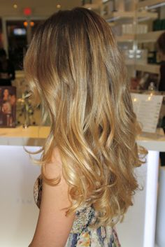 Makeover from brown to golden blonde