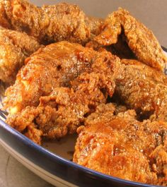 Navajo Blue Corn Fried Chicken w/Ancho Honey Sauce