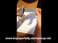 ▶ How To Tie A Simple Bow - Paperladykc - YouTube This is also how Teneale ties her gorgeous bows!
