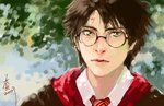 My two favorite things! Anime and Harry Potter!