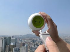 Window Socket: Plug the Portable Solar-Powered Outlet to Your Window, it Draws Energy