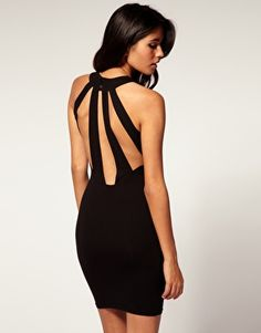 body-con dress with slash back by asos.