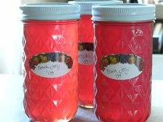 Peach Skin Jelly - use all the parts of the peach (except the pit)...nothing wasted!!