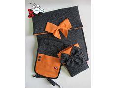 Case iPad + Bolsinha para carregador de celular + Porta celular www.mimusideias.com.br