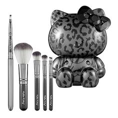 Hello Kitty Wild Thing Brush Collection thing brush, hello kitti, wild thing, brush set, makeup, brushes, hair, hello kitty, kitti wild