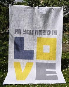 "Heidi made this fabulous wedding #quilt 56 x 88"""