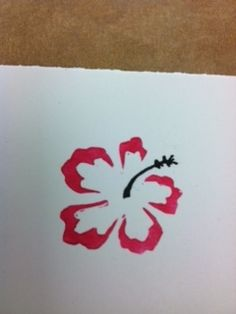 flower stamp carved with the Undefined kit
