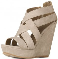 Nude wedges by Chinese Laundry...just got these!
