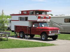 OMG this reminds me of my Grandpa's truck from when I was a kid!!  And it was red as well!