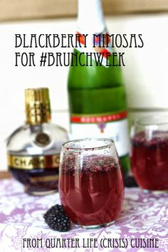 Blackberry Mimosas from Quarter Life (Crisis) Cuisine