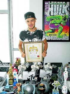 Liam with all his awards!