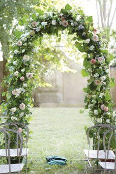 beautiful. full garden arch