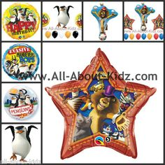 MADAGASCAR 3 Circus Birthday PARTY BALLOONS - Make Your Own Set ~ www.All-About-Kidz.com