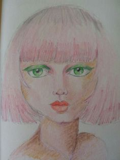 #29 faces #journal #portrait #mixedmedia #whimsical