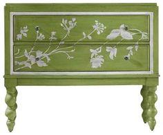 Hooker Furniture Melange Spring Garden Chest in Green