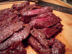 Garlic Skirt Steak- a copycat recipe for Fogo de Chao's garlic beef! Can't wait to try this!!