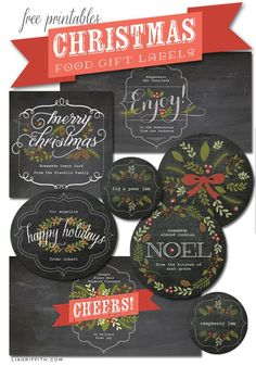 FREE PRINTABLE - Christmas Labels for food gifts