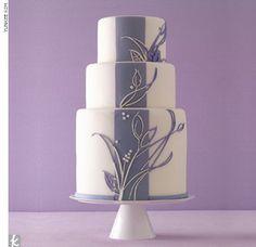 Purple vine wedding cake.