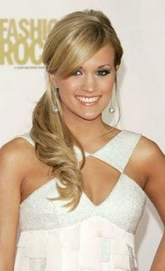 Side Ponytail Carrie Underwood Last Hair Models Styles Design 304x500 Pixel