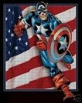 Captain America Crochet Pattern