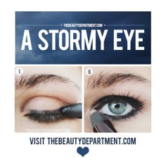 If you don't want to look like you spent a lot of effort doing a smoky eye (but want the same drama), this moody eye is for you! Click on the picture for the full tutorial!